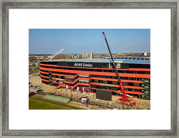 Videowall Az Alkmaar... Framed Print by Soccrates Images