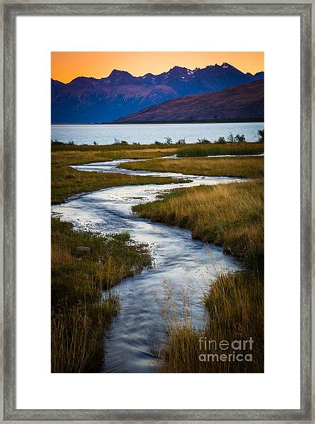 Viedma Creek Framed Print