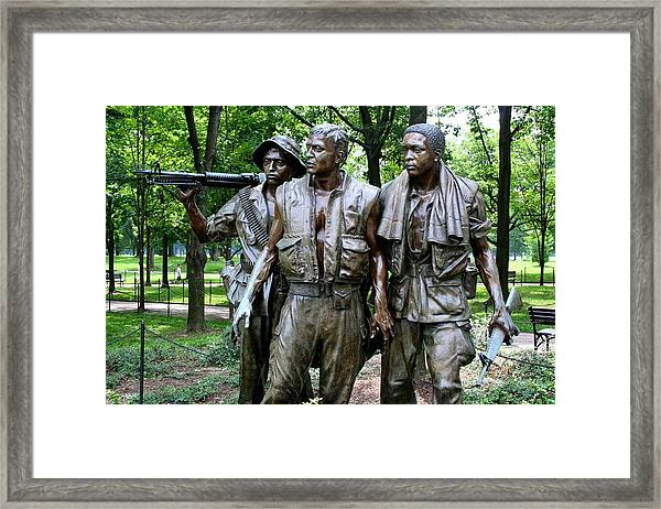 Vietnam Memorial 2 Framed Print