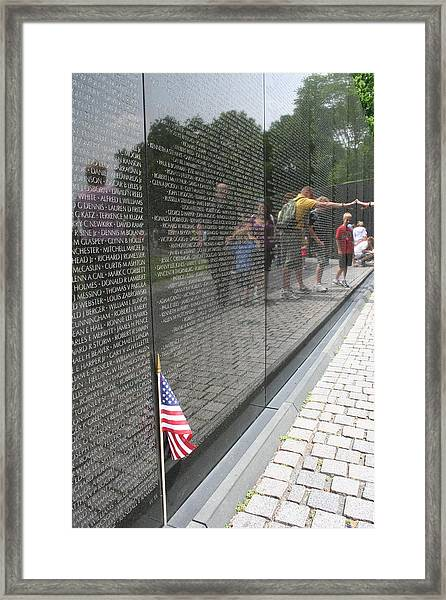 Vietnam Memorial 3 Framed Print