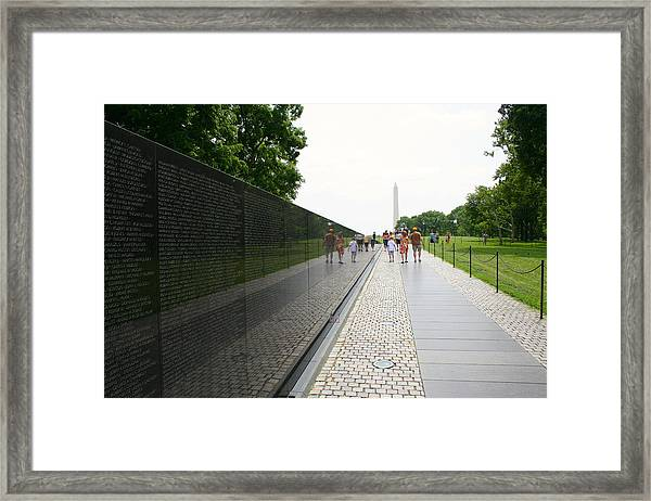 Vietnam Memorial 4 Framed Print