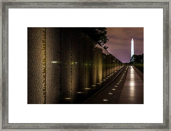 Vietnam Veterans Memorial Framed Print