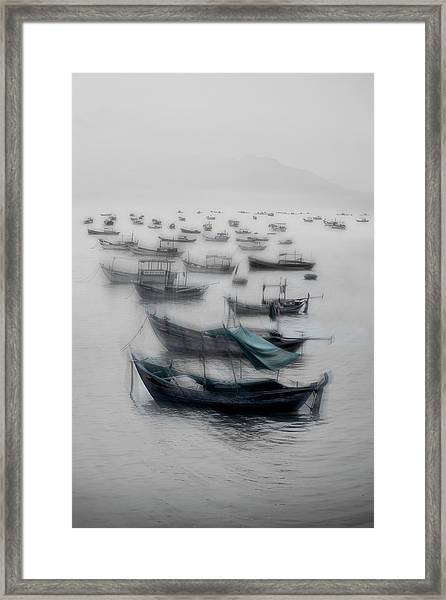 Vietnamese Boats Framed Print