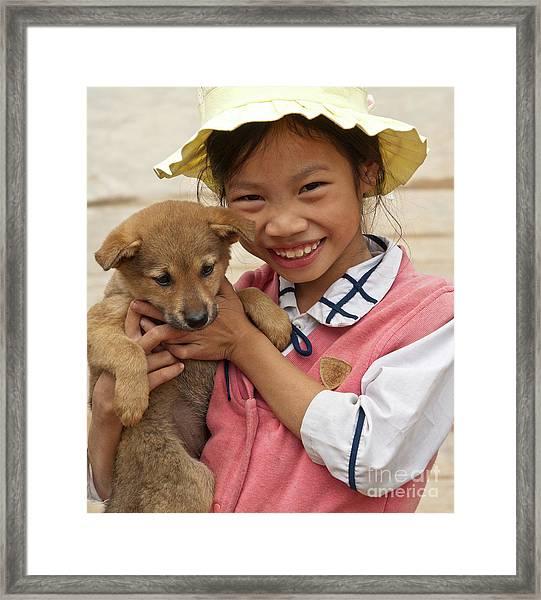 Vietnamese Girl 02 Framed Print