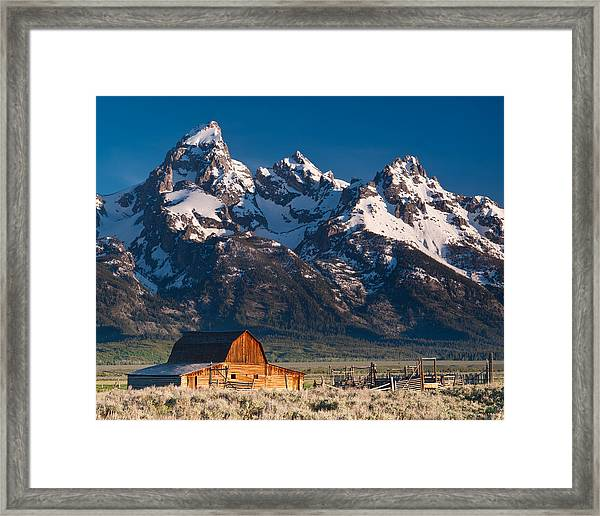 View At John Moulton Barn Framed Print