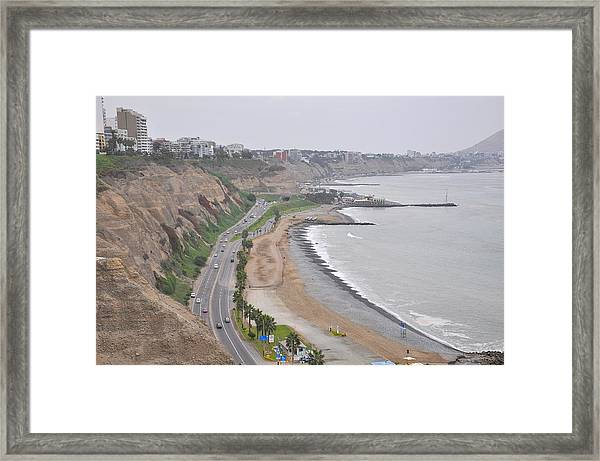 View At The Beach And The Circuito De Playas Framed Print by Markus Daniel