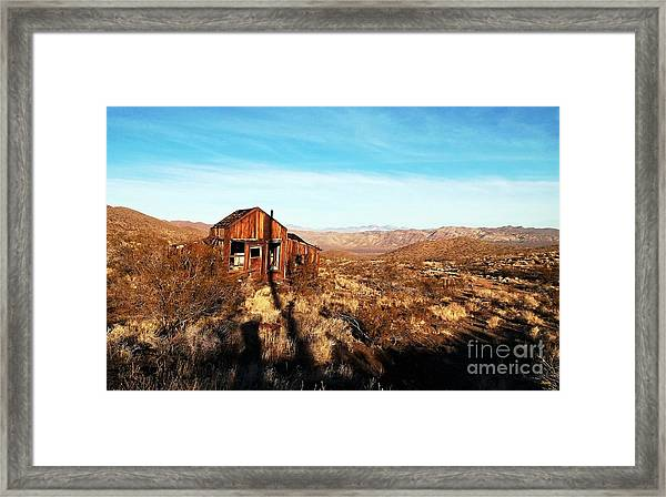 View Estate - Randsburg California Framed Print