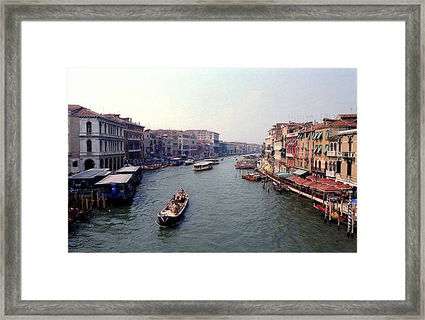 View From A Bridge Framed Print