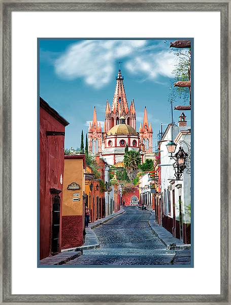 View From Calle Adama Framed Print