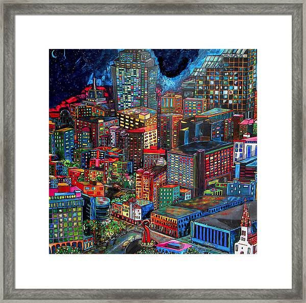 View From Hemisphere Framed Print