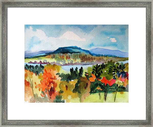 View From Kripalu In Fall Framed Print