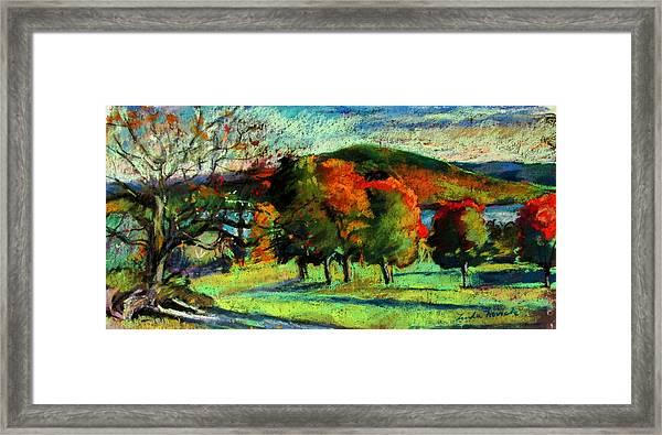 View From Kripalu Towards Lake Mahkeenac Framed Print