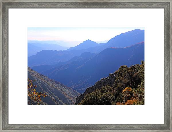 View From Moro Rock Framed Print