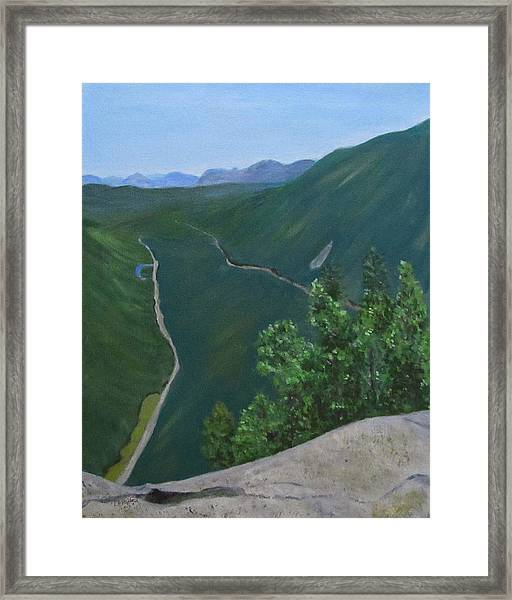 View From Mount Willard Framed Print