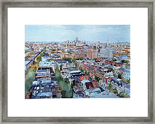 View From Penthouse Prospect Park West Framed Print