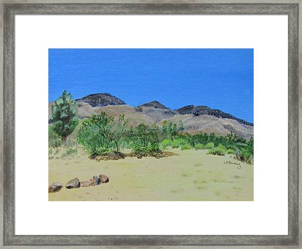 View From Sharon's House - Mojave Framed Print