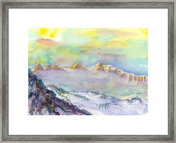 View From Snowbird Framed Print