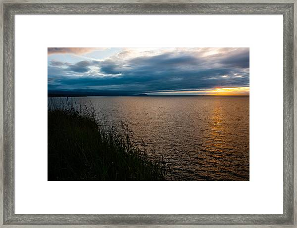 View From The Bluff Framed Print