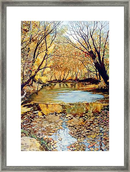 View From The Covered Bridge Framed Print