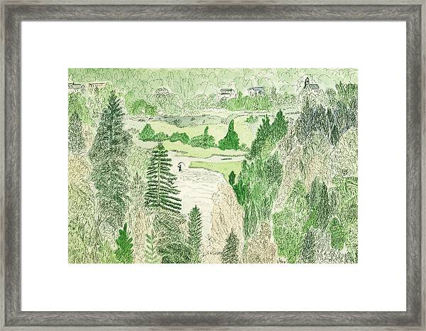 View From The Dam Framed Print