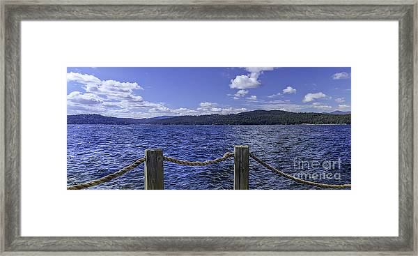 View From The Dock Framed Print by Nancy Marie Ricketts