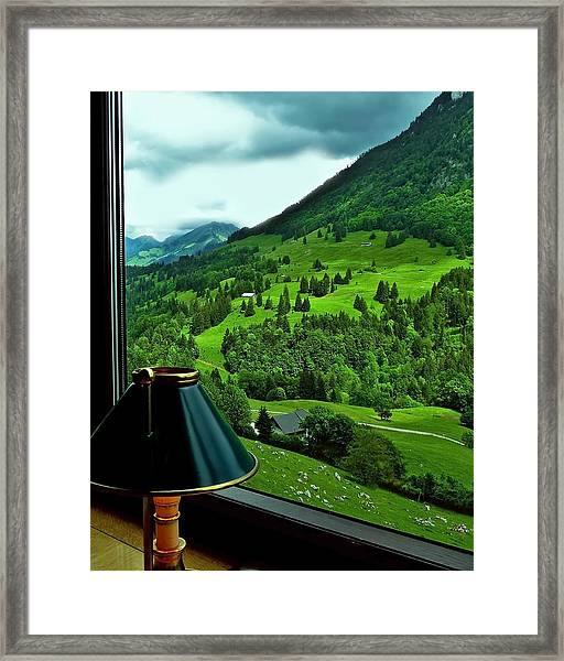 View From The Goldenpass Framed Print