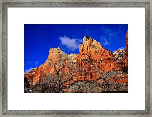 View From The Grotto Framed Print