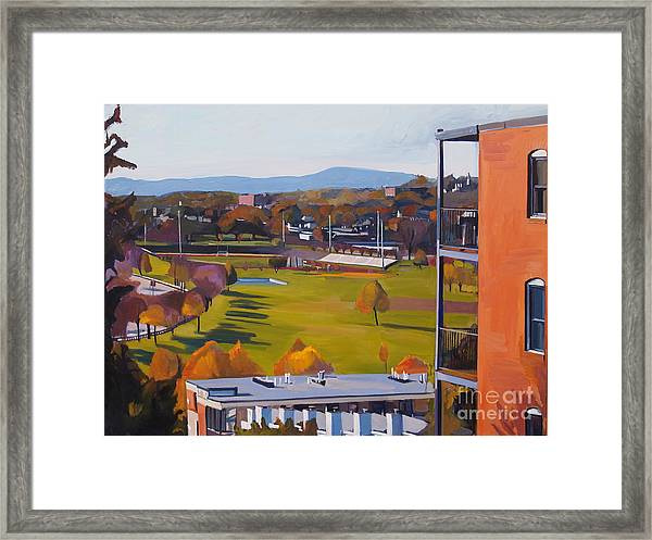 View From The Heights Framed Print