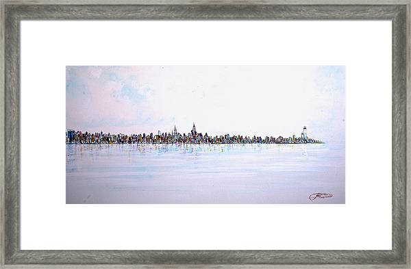View From The Hudson Framed Print
