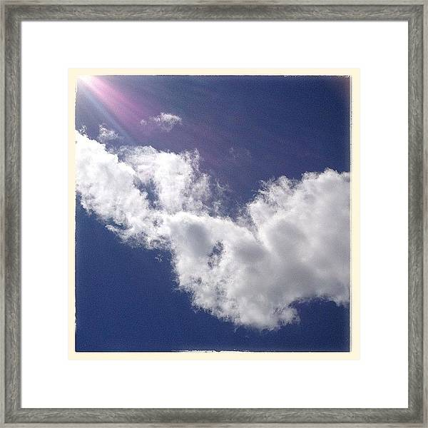 View From The Sunroof Today. Just Framed Print