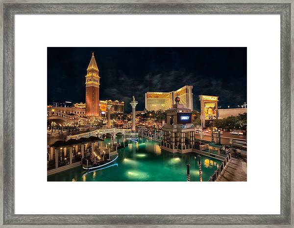 View From The Venetian Framed Print