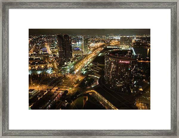 View From Top Of The Hyatt Framed Print