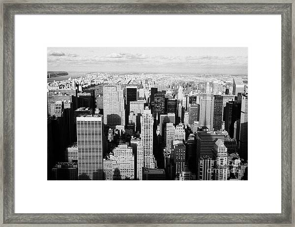 View North Towards Central Park From Empire State Building New York Framed Print