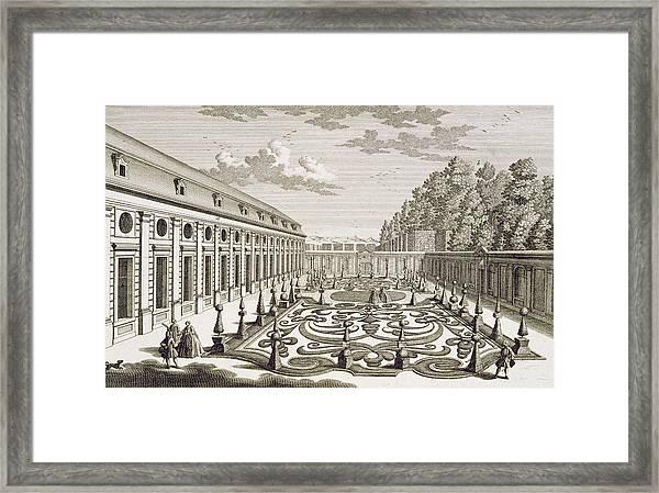 View Of A Flower Garden Near Vienna Framed Print