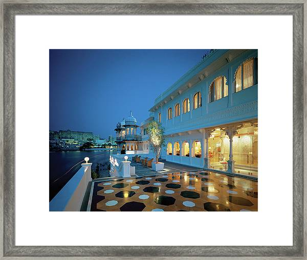 View Of A Palace At Dusk Framed Print