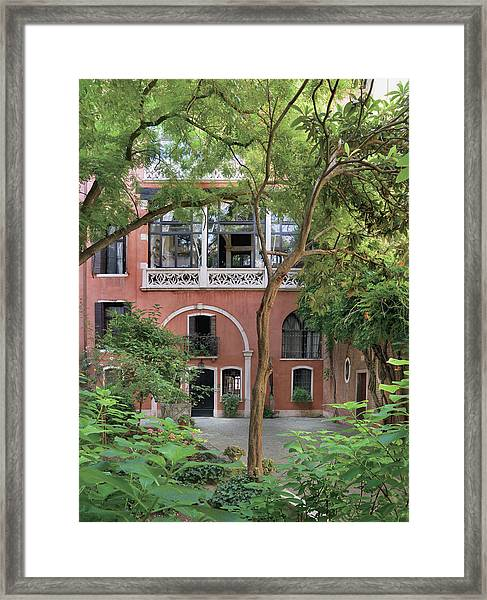 View Of Apartment And Courtyard Framed Print