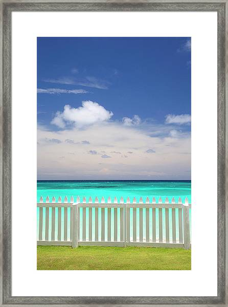 View Of Caribbean Sea Framed Print