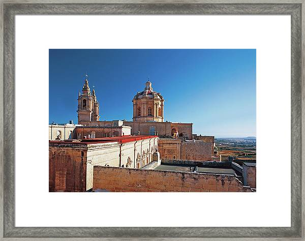 View Of Church And Palace Framed Print
