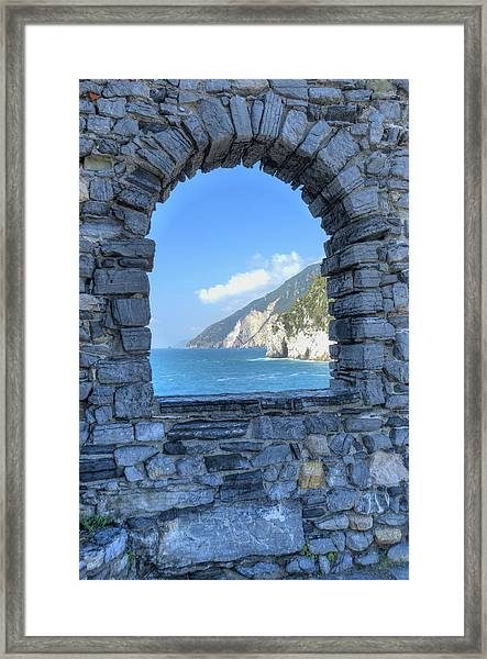 View Of Cinque Terre From Portovenere Framed Print