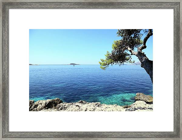 View Of Dubrovnik From Cavtat Peninsula Framed Print