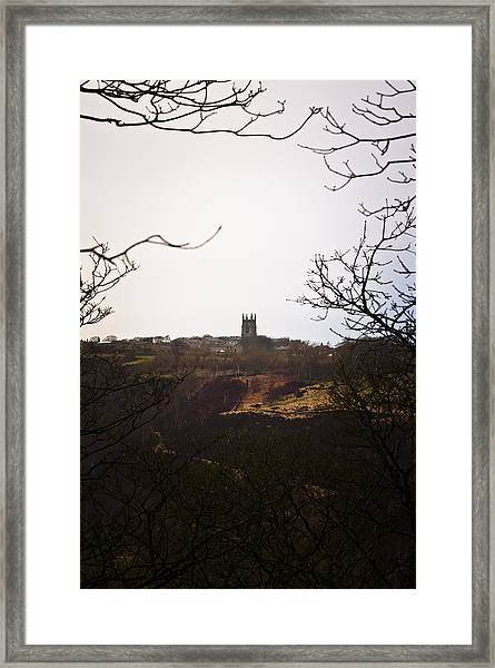 View Of Heptonstall Church Framed Print