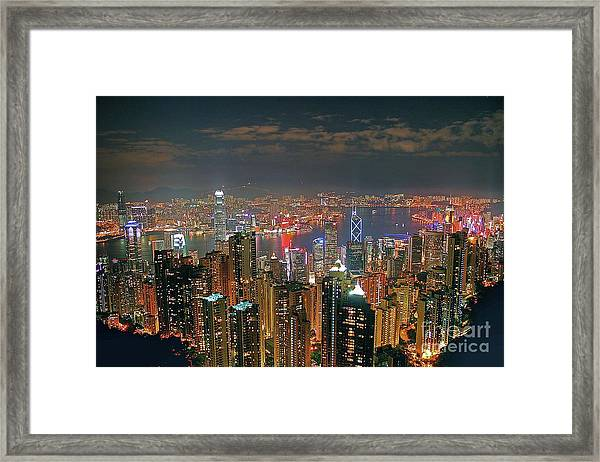 View Of Hong Kong From The Peak Framed Print