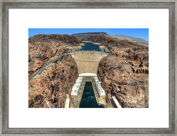 View Of Hoover Dam Framed Print