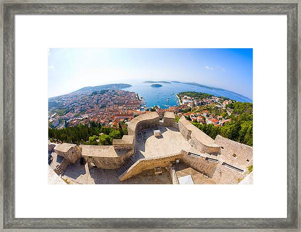 View Of Hvar Framed Print
