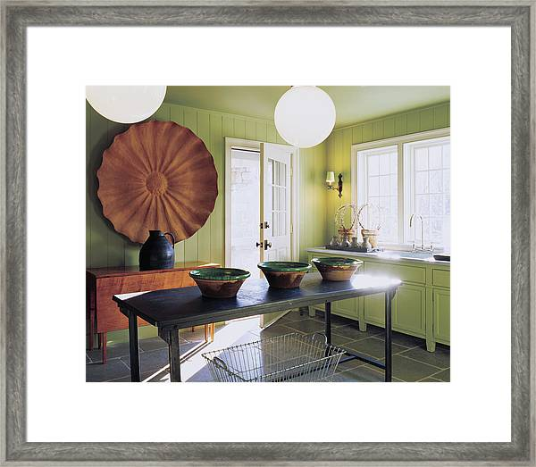 View Of Kitchen Interior Framed Print