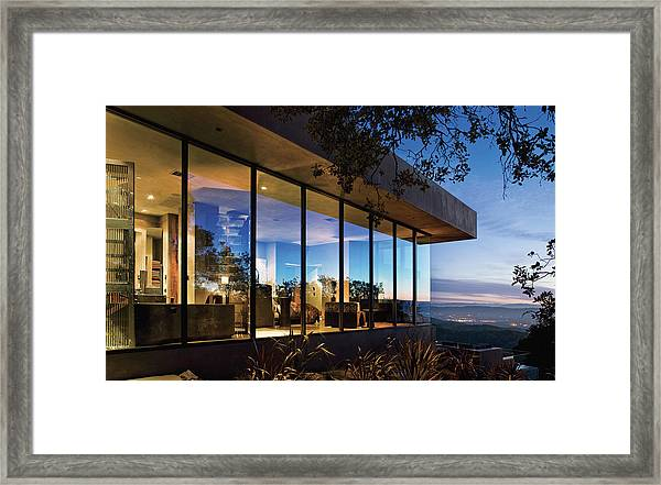View Of Luxurious Resort At Dusk Framed Print