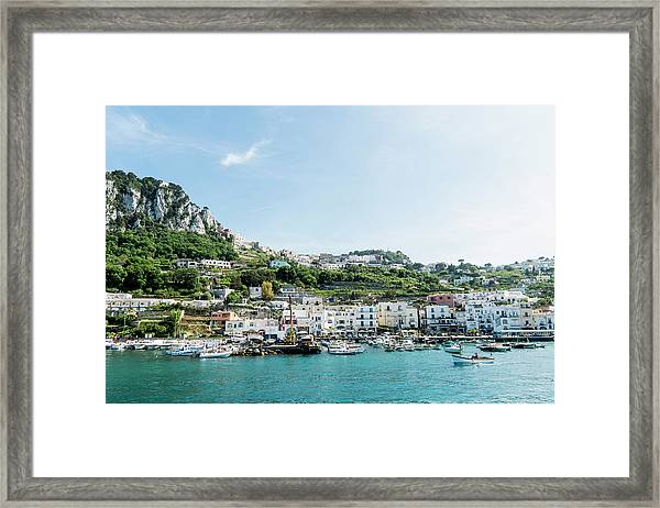 View Of Marina Grande From The Sea Framed Print by Arnt Haug / Look-foto