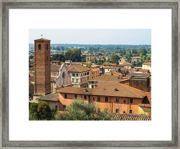 View Of Pietrasanta Framed Print
