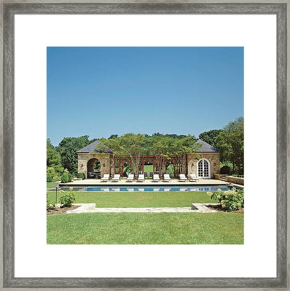 View Of Resort Swimming Pool Framed Print