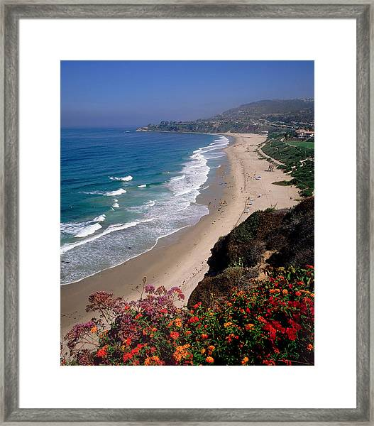 View Of Salt Creek Beach Framed Print